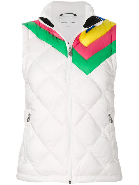 vest rainbow women white jacket