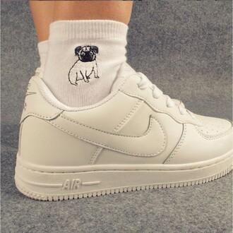 shoes fashion trendy white cool sneakers sporty socks boogzel white sneakers low top sneakers dog cute