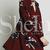 Wine Red Oxblood Baggy Long Sleeve Floral Flowery Dress -SheIn(Sheinside)