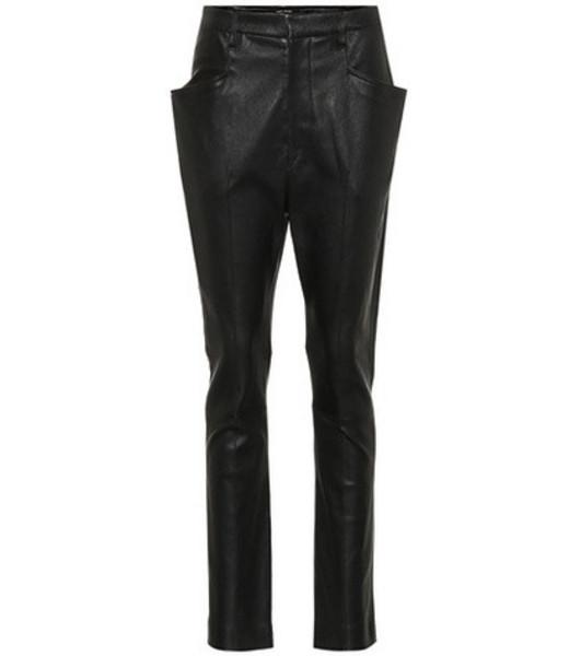 Isabel Marant Modena skinny leather pants in black
