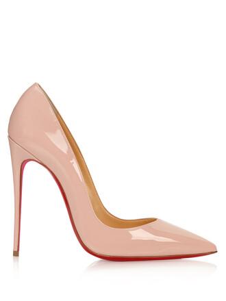pumps leather light pink light pink shoes