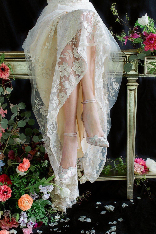 bridal heels ⋆ Ruffled