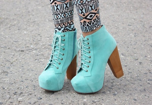 shoes high heels aztec leggings pants