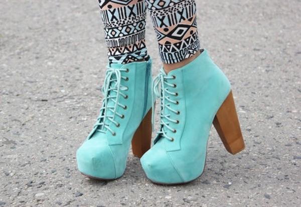 shoes high heels aztec leggings pants