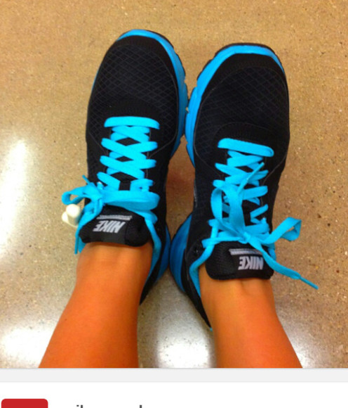 shoes aqua blue nike free run