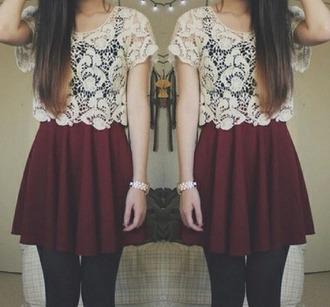 jumpsuit dentelle red dress white dentelle girly feminine