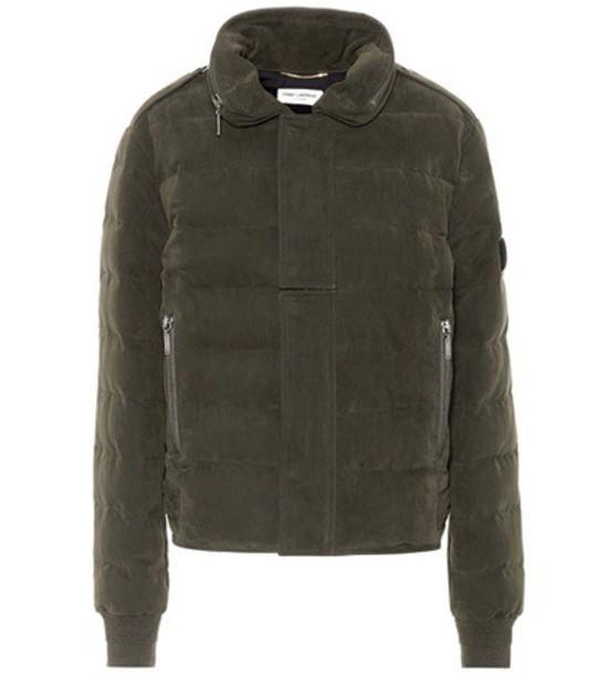 Saint Laurent Down jacket in green