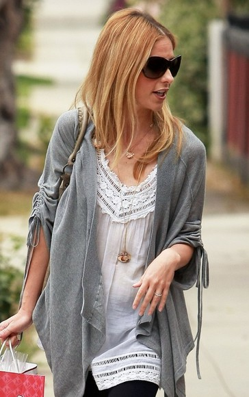tunic lace shirt sarah michelle gellar