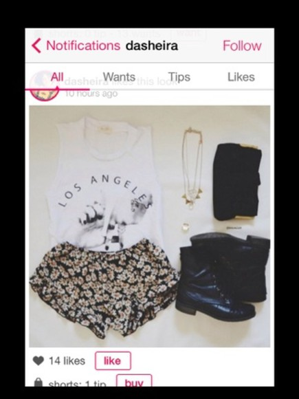 jewels shoes shorts shirt bag