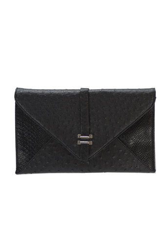 Ladies Zagir Black Envelope Clutch Bag | Pop Couture