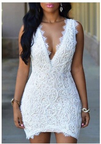 dress rose wholesale lace dress white bodycon dress classy clubwear lace girly sexy summer cleavage beautifulhalo