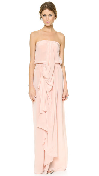 dress maxi dress maxi strapless draped