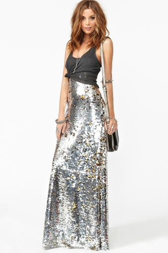 Gina sequin maxi skirt  in  what's new at nasty gal