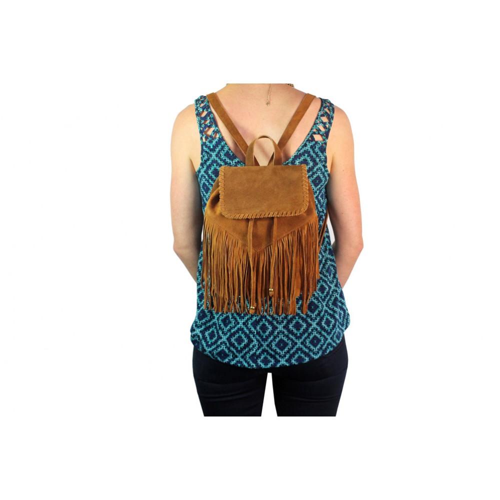 Suede Tassel Duffle Bag - MINI Backpack - Fringe Festival Bag