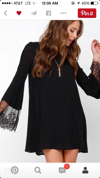 dress black shift dress