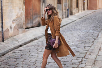 my daily style blogger suede gucci bag plum trench coat