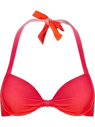 bikini bikini top yellow orange swimwear