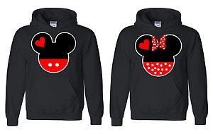 Couple Matching Hoodies Mickey Cute Couple Sweatshirts Tumblr