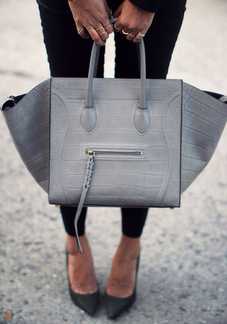 bag grey bag braided