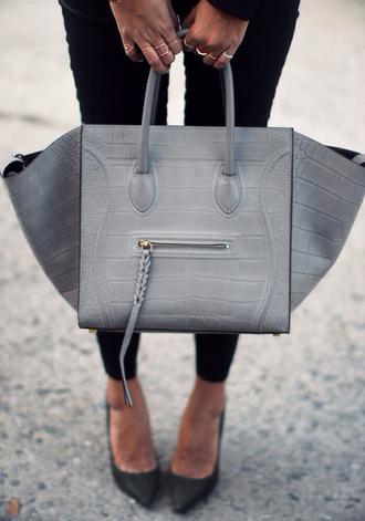 bag grey bag braided