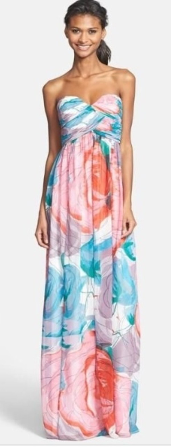 dress watercolor dress