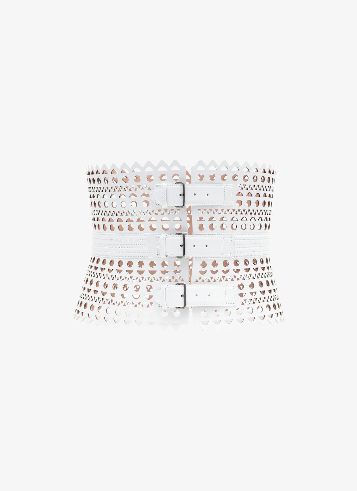 Women's White Alaïa Edition 1992 Corset Belt | ALAÏA US