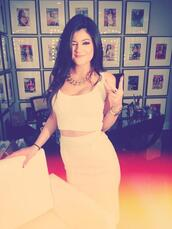 dress,beautiful,maxi dress,skirt,kylie jenner,nude