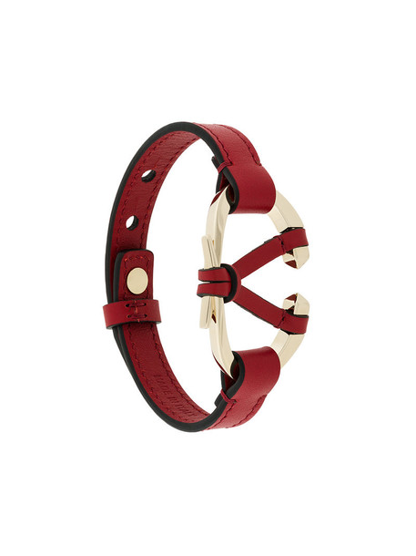 women leather red jewels