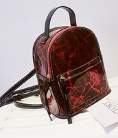 bag,girly,girly wishlist,mini,mini bag,red,marble,backpack