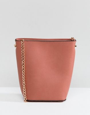 New Look Mini Chain Strap Bucket Bag at asos.com