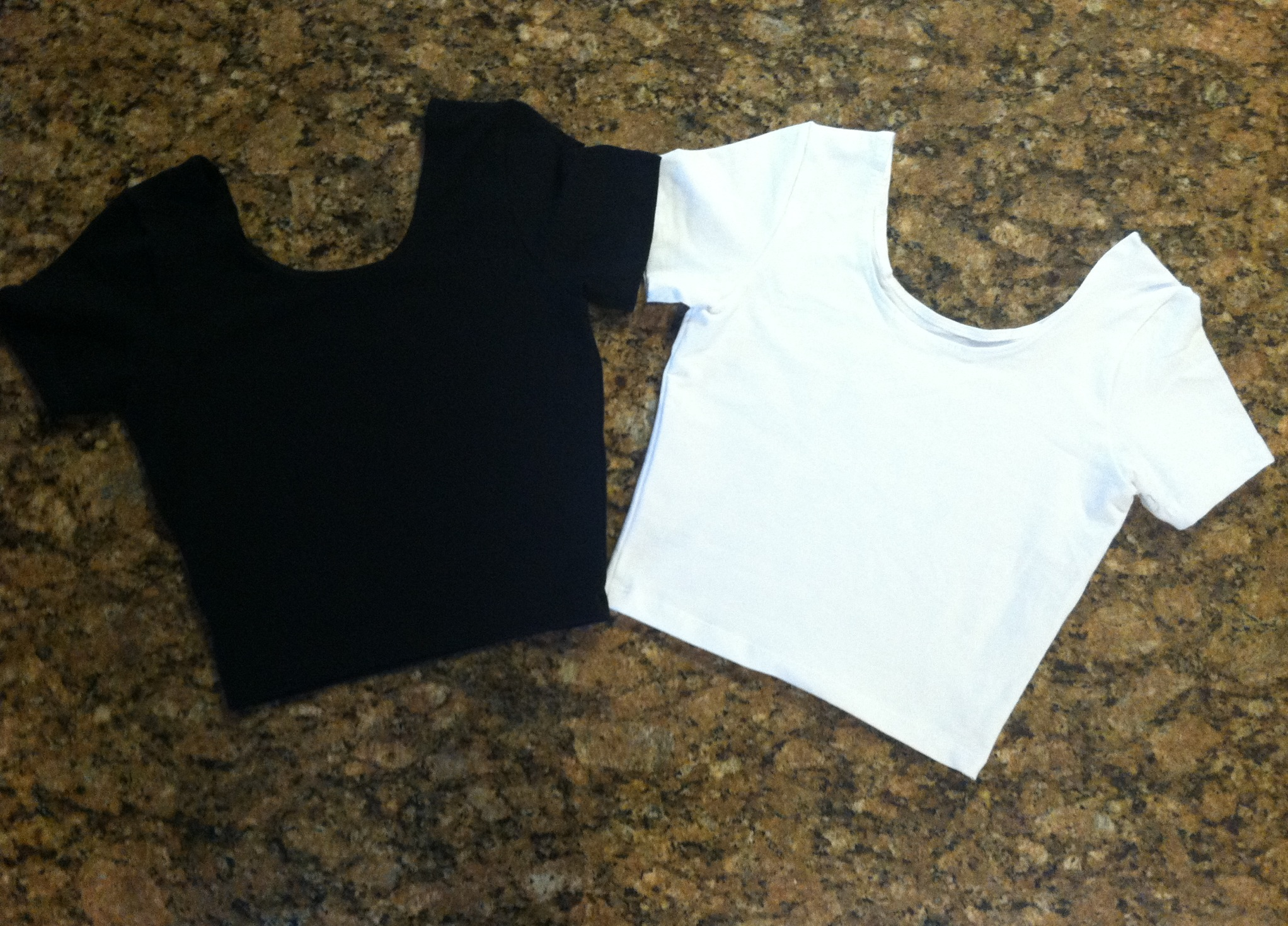 Plain Black & White Crop Top from Lauren Alexandra on Storenvy