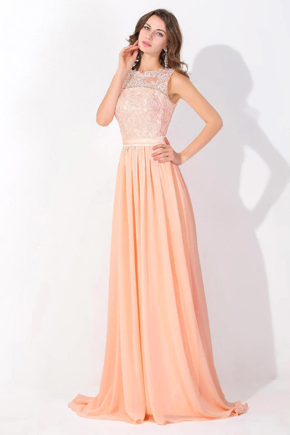 com : Buy Real Coral Long Lace Prom Dresses Sexy Sheer Tulle Open ...