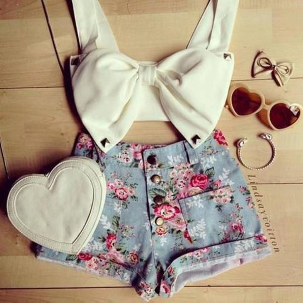shorts cute shorts floral