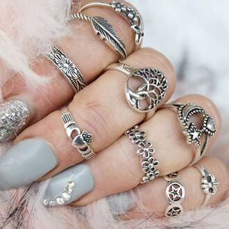 jewels cherry diva knuckle ring silver silver ring silver jewelry boho jewelry sterling silver rings