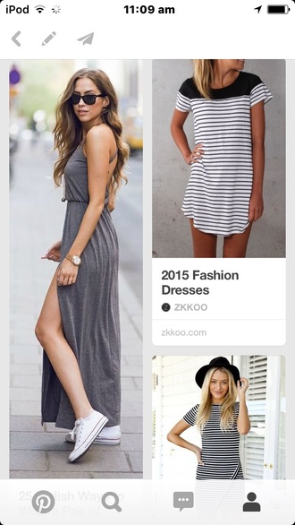 dress maxi dress summer casual dress asos sunglasses white converse