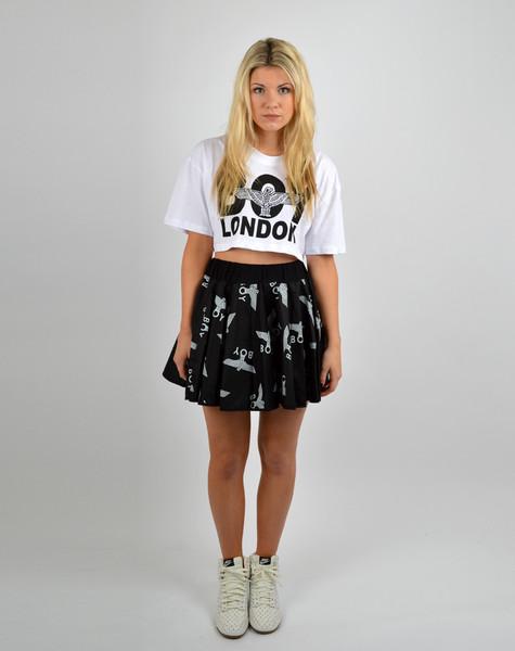 BOY LONDON Boy Repeat Black Skirt – Glamzelle