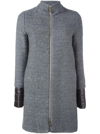 coat women wool grey