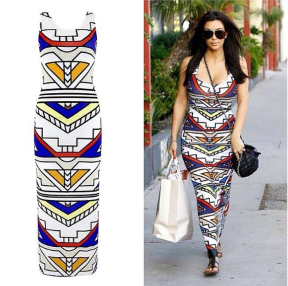 maxi dress aztec