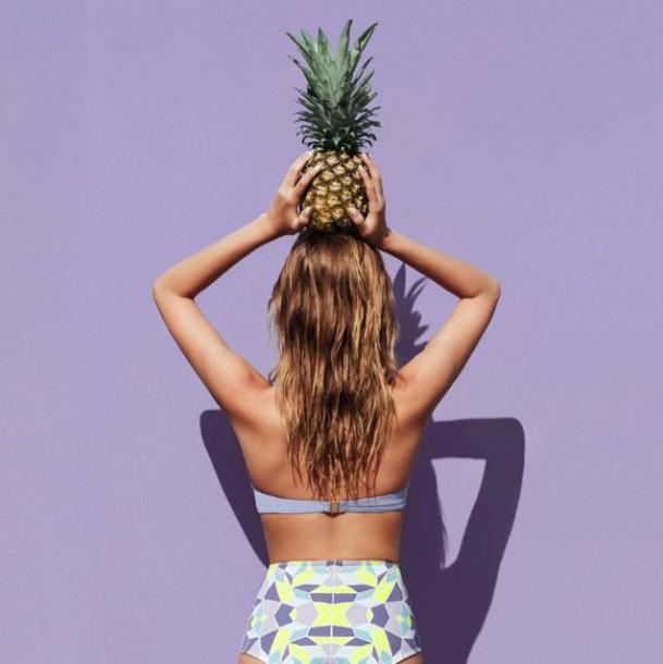 swimwear bikini high waisted bikini neon swimsuit