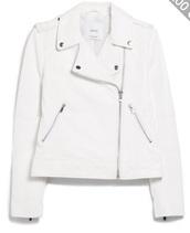 jacket,white leather jacket,perfecto,leather jacket,white