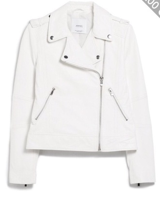 jacket white leather jacket perfecto leather jacket white