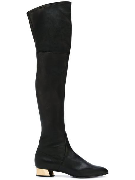 heel metallic women leather black shoes