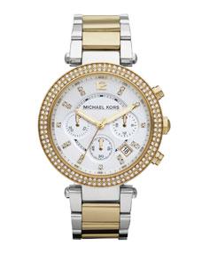 Michael KorsParker Glitz Watch, Two-Tone