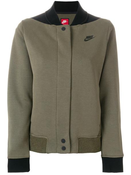 Nike - Tech Destroyer jacket - women - Cotton/Polyester - XS, Green, Cotton/Polyester