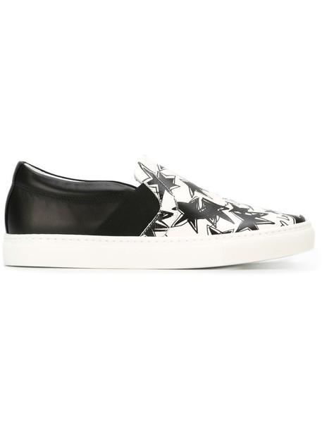 lanvin women sneakers leather white print shoes