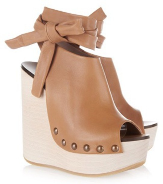 shoes chloé penelope wedge sandals