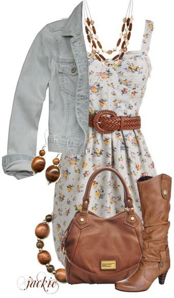 Belt dress bag boots jacket