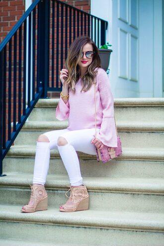 kiss me darling blogger blouse shoes bag sunglasses make-up jewels