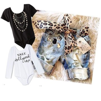 pants shirt belt leopard print onesie