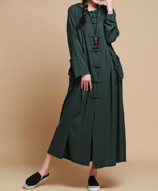 dress loose fitting dress long dress
